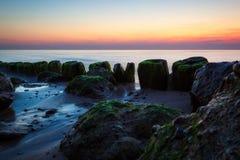 Quebra-mar na manhã imagem de stock royalty free