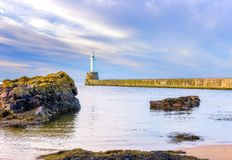 Quebra-mar sul de Aberdeen imagem de stock