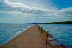 Quebra-mar ventoso na baía em dois portos, Minnesota da ágata imagens de stock royalty free
