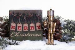 Quebra-nozes de bronze do Natal imagem de stock