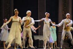 Quebra-nozes francesa clássica do bailado da dança- da corte imagem de stock