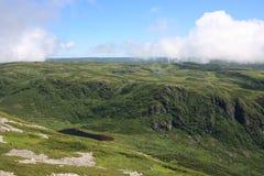 Quebrada Backcountry del transbordador que acampa en Gros Morne Fotos de archivo