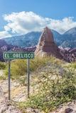 Quebrada de las Conchas, Salta, la Argentina septentrional Imagenes de archivo