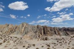 Quebrada de las Flechas在西北阿根廷 库存照片