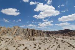 Quebrada de las Flechas在西北阿根廷 免版税库存照片