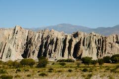 Quebrada de las Flechas -萨尔塔-阿根廷 库存图片