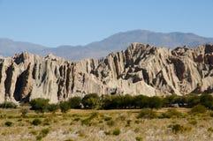 Quebrada de las Flechas -萨尔塔-阿根廷 免版税库存照片