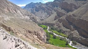 Quebrada de Ongoro -阿雷基帕 免版税库存照片
