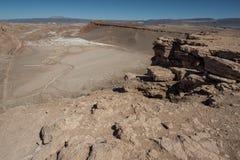 Quebrada del卡里彼德拉del土狼-圣佩德罗火山de阿塔卡马,智利 免版税图库摄影