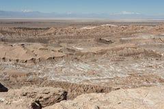 Quebrada del卡里彼德拉del土狼-圣佩德罗火山de阿塔卡马,智利 库存照片