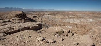 Quebrada del卡里彼德拉del土狼-圣佩德罗火山de阿塔卡马,智利 图库摄影