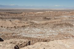 Quebrada del Kari Piedra del Coyote - San Pedro de Atacama, Chili stock foto's