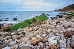 Quebrada wybrzeże Cantabria, Spain Zdjęcia Stock