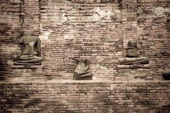 Quebrado da pedra da estátua da Buda em Ayuthaya Tailândia Imagens de Stock