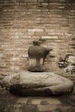 Quebrado da pedra da estátua da Buda em Ayuthaya Tailândia Fotos de Stock Royalty Free