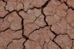Quebrado do solo seco Fotografia de Stock Royalty Free