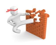 Quebrando barreiras Fotografia de Stock