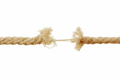 Quebrando a corda Imagem de Stock Royalty Free