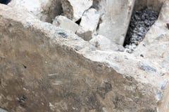 Quebrando o concreto com broca Fotografia de Stock Royalty Free