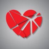 Quebrando o coração Imagem de Stock Royalty Free