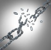 Quebrando o grupo Chain Imagens de Stock Royalty Free