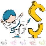 Quebrando o homem dos preços Imagem de Stock Royalty Free