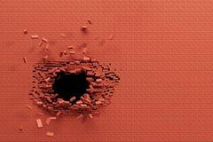 Quebrando a parede de tijolo ilustração do vetor
