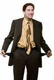 Quebrou o homem de negócio Fotografia de Stock Royalty Free