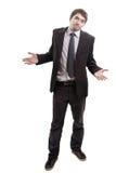 Quebrou o homem de negócios que pede soluções ou conselho foto de stock royalty free
