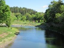 Quechee delstatspark, Hartford, Vermont fotografering för bildbyråer