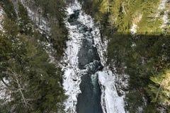 Quechee flod - Vermont royaltyfri foto