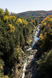 Quechee Gorge in Vermont Autumn Stock Photo