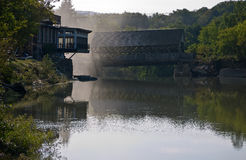 Quechee Vermont Covered Bridge after Irene Stock Image