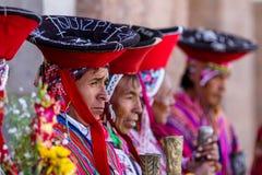 Quechua Älteste im heiligen Tal lizenzfreie stockfotografie