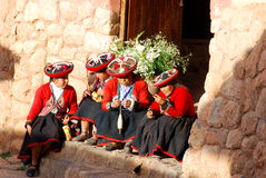 Quechua γυναίκα Στοκ Εικόνες