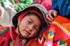 Quechua boy in a village in the Andes, Ollantaytambo, Peru Royalty Free Stock Photography