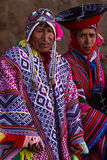 Quechua Elders in the Sacred Valley. Pisac, Peru - May 15: Quechua elders in traditional clothing in a small ceremony in the Pisac Market. May 15 2016, Pisac Stock Photos
