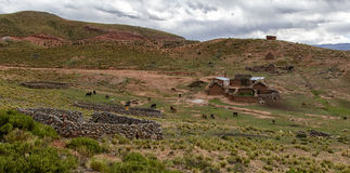 Quechua farm in Bolivia Royalty Free Stock Photo