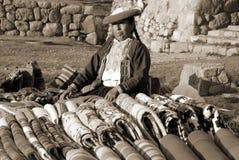 Quechua Frau Stockfotografie