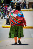 Quechua Indian native local woman near Puno, Peru, South America Stock Photo