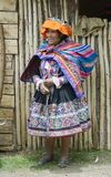 Quechua Indian woman from the Paru Paru Community Royalty Free Stock Photo