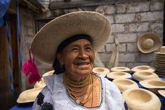 Quechua kobieta z kapeluszem Zdjęcia Stock