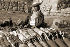 Quechua kvinna Arkivbild