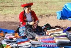 Quechua kvinna Royaltyfri Fotografi