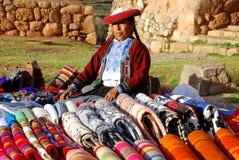 Quechua kvinna Arkivfoton