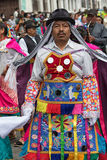 Quechua man in colourful wear Stock Photo