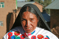 Quechua portrait Royalty Free Stock Photo