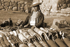 Quechua vrouw Royalty-vrije Stock Foto's
