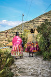 Quechua wedding on the Isla del sol on Lake Titicaca in Bolivia Royalty Free Stock Image