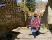 Quechua woman, traditional costume. Cusco, Peru Stock Photos